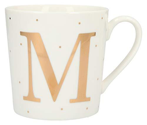 Depesche 5909.039 Tasse mit Henkel, aus Porzellan, 300 ml, mit Aufschrift, M, Mehrfarbig