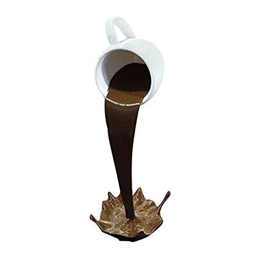 Floating Cup Sculpture Gießen Flüssige Kaffeetasse 3D Schwebende Kaffeetasse Glasharz Verwendet Für Kunstdekoration Von Küche Und Wohnzimmer Überraschungsgeschenk Für Freunde Oder Familie 15 Cm