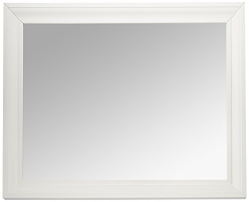MCS 21.5x27.5 Inch Rectangular Wall Mirror, 26.5x32.5 Inch Overall Size, White -