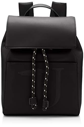 Trussardi Jeans T-Easy Backpack Monocolor, Zaino Donna, Nero (Black On Tone), 23x35x15 cm (W x H x L)