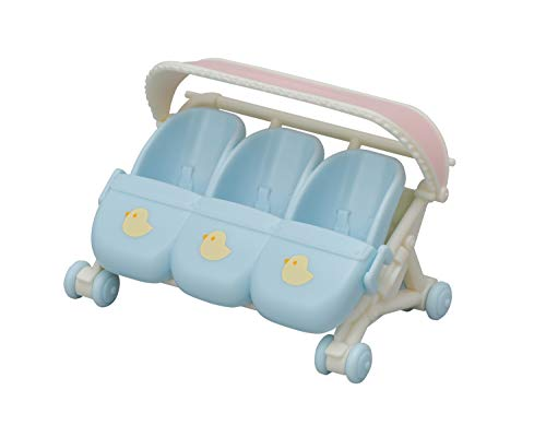 Calico Critters Triplet Stroller, Accessory for Triplet Babies
