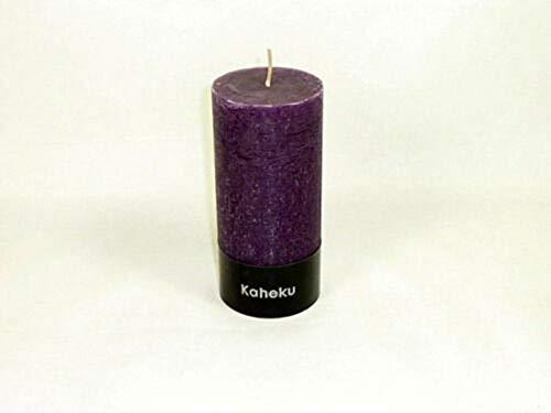 Kaheku Zylinder Kerze Aubergine Euro Trend Candles Durchmesser 10cm x 15cm