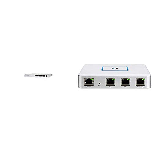 Ubiquiti UniFi-Switch 24 ohne PoE & USG Netzwerk/Router ( 3 Gigabit-Ethernet-Ports, UniFi-Controller)
