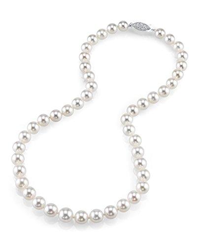 The Pearl Source 14k Oro bianco Rotonda Perla