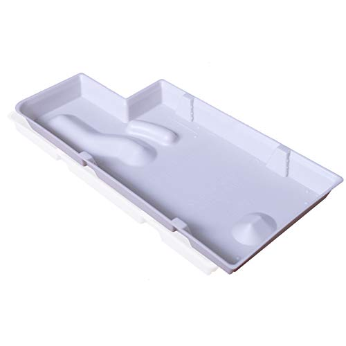 Reyhoar Refrigerator Evaporator Tray, Drain Pan Replacement Part W10614158 Compatible with Kitchenaid/Whirlpool/Kenmore Elite/Kenmore Refrigerators, Creamy-White