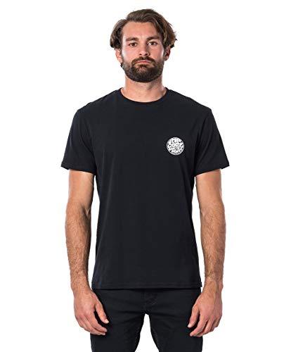 Rip Curl Original WETTY SS tee Hombre,Camiseta,Camiseta Manga Corta,Escote Redondo,Black,L