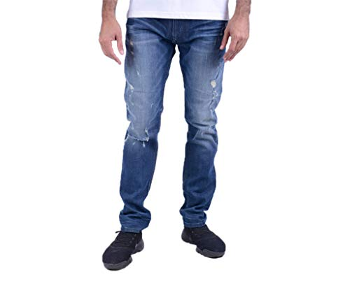 Diesel Herren Jeans Thavar XP R480R, Denim, Stretch, Slim Fit Gr. 31 W/30 L, Denim-blau