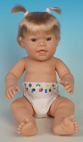 BABY DOWN Bebe de 42 cm con Ojos cristalinos y Suave. La Original muñeca babydown.es