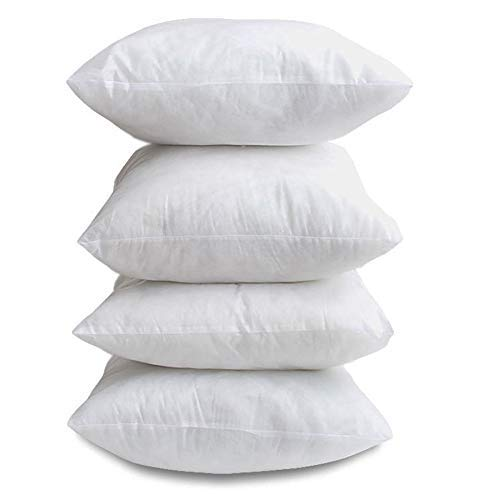 CnA Stores 17' x 17' Inch Square Cushion Inner Hollowfibre Pads Non Allergenic Pack of 4