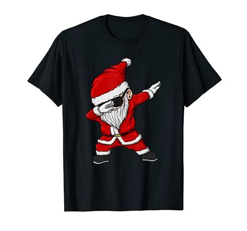 Tamponare Babbo Natale Occhiali da sole Costume di Natale Maglietta