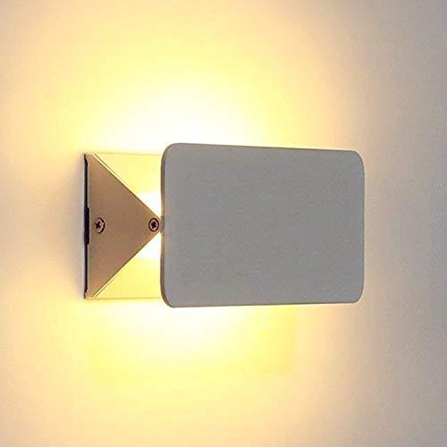 amzdeal LED Applique Murale 5W Moderne Lampe Murales, Réglable Lampe Up and Down Exterieur/Interieur, pour Cage d'escalier et Couloir du Salon, Blanc Chaud 3000K