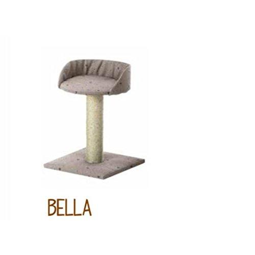 Imac Bella, Tiragraffi per gatto, Multicolore, 34 cm x 34 cm, H 45 cm
