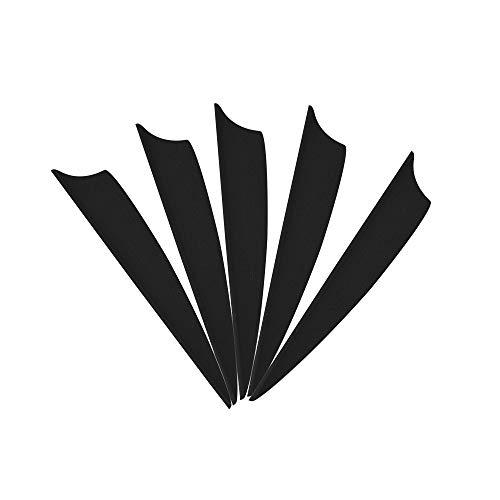 MILAEM 100 Stücke Pfeil Federn 2 Zoll Gummi Pfeilfedern Kunststoff Feder Befiederung fletches Pfeile Vanes for Bogenpfeile