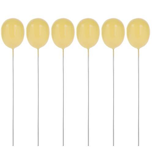 Lemon-Land 6 Stks Gemengde Kleur Baby Douche Mooie Dessert Kids Geschenken Cake Topper Vlaggen Gelukkige Verjaardag Schuim Ballon Beige