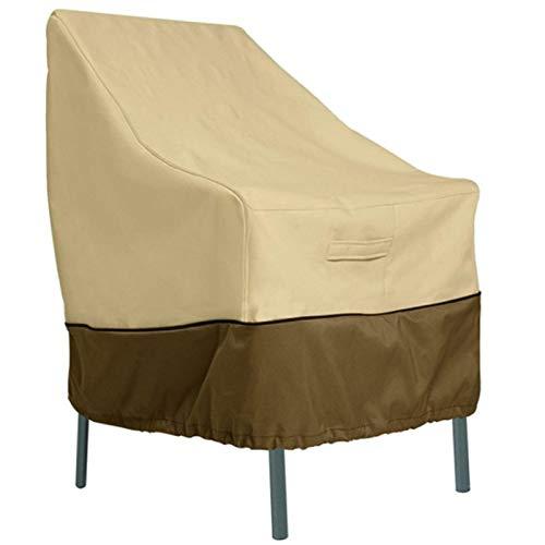 AMGJ Funda Protectora para Sillas de Jardín 65x83x86cm, Cubierta para Muebles de Patio Tela de Oxford 210D/420D Impermeable, Protección contra los Rayos UV, Antiviento,420D