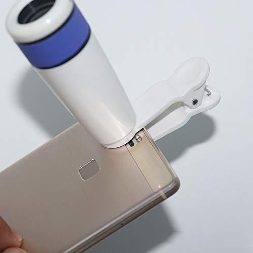 LG Snow Al Aire Libre Totalmente Óptico De La Lente del Telescopio del Teléfono Móvil De Bolsillo 12 Veces Gafas Monoculares (Color : Blue)