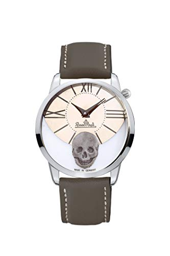 Rosenthal Watch 3041 / RockSkull zilver-titanium-bruin dameshorloge 69105-321422-05690