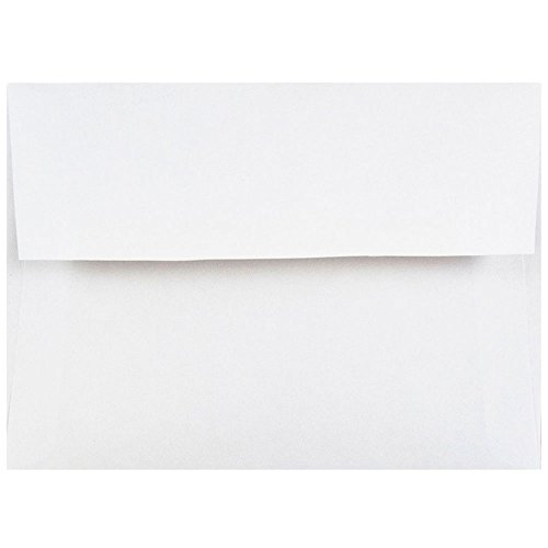 JAM PAPER 4Bar A1 Invitation Envelopes - 3 5/8 x 5 1/8 - White - 25/Pack