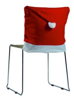 Iden stoelhoes van vilt kerstmuts Kerstmis 50 x 60 cm