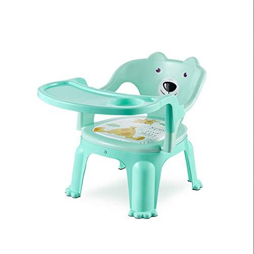 TASE Verstellbarer Baby-Essstuhl, abnehmbares Tablett, einfacher Stil, grün, Baby-Essstuhl
