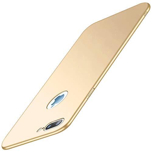 Vanki Funda con iPhone 8 Plus, funda iPhone 7 Plus, ultra fina, dura, PC, carcasa protectora, antigolpes y antiarañazos, para iPhone 7 Plus/8 Plus (iPhone 8 Plus, dorado)