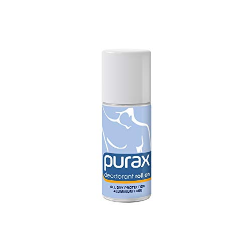 Purax - Desodorante roll on, sin aluminio, 50 ml