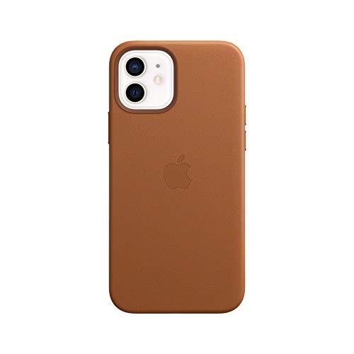 Apple Leder Hülle mit MagSafe (für iPhone 12 | 12 Pro) - Sattelbraun - 6.1 Zoll