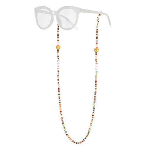 KELITCH Cadena De Anteojos Máscara Collares Soporte Cordones Gafas Gafas De Sol Collares De Hebra Soporte Collar Collares Retenedor (14M)