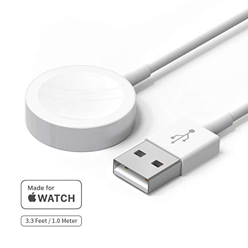 Watch Charger, Welldiea Watch Charger Charging Cable, Magnetic Wireless Portable Charger Pad 3.3 ft/1.0m Charging Cable Compatible with Apple Watch Series 3/2/1 All 38mm 42mm iWatch( 3.3 FT)