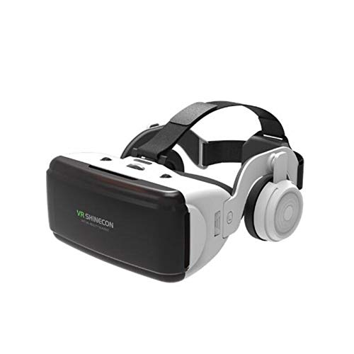 JDG Onlight VR Virtual Reality Reality 3D Glasses Box Stereo VR Google Casco for Cuffie di Cartone for Smartphone Android iOS, Bluetooth Rocker (Color : G06E)