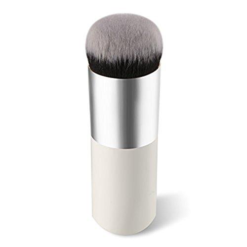 Vi.yo 1 Pièce Brosse Belle Cosmétique Brosse Maquillage pour Visage Brosse Professionnelle à Blush (Argent Blanc)