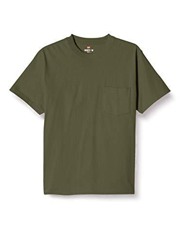 [ヘインズ] Tシャツ 綿100% ポケットTシャツ ビーフィー-T H5190 メンズ ウ゛ァイン L