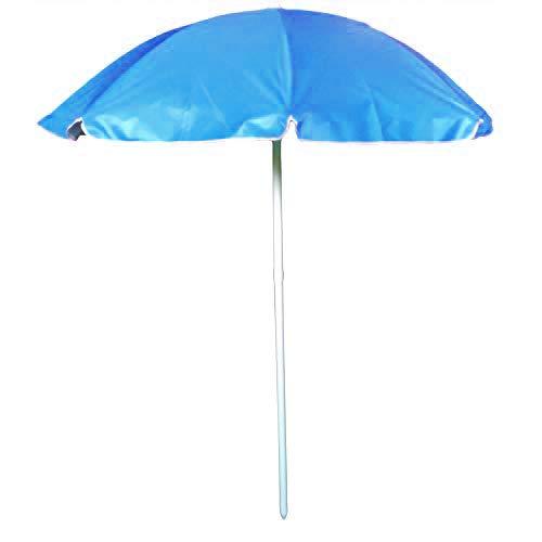 Tubo 22 mm Poliestere Blu Ombrellone Diametro 180 cm AKTIVE Beach 62176 Protezione UV 50