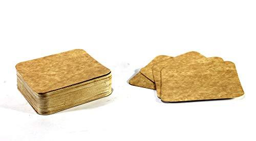 eSplanade - Sottobicchiere usa e getta, in carta, confezione da 100 pezzi, con sottobicchiere reversibile, perfetto per bar, hotel, ristoranti e feste, colore: marrone