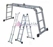 Escalera multiposición aluminio (multi-proposito) 3,80m con plataforma