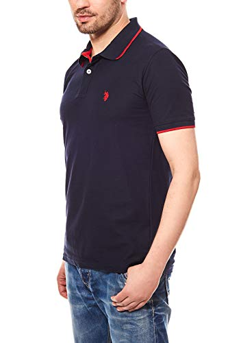 U.S. Polo Assn. Shortsleeve Polo Shirt Herren Polo-Shirt Polohemd Navy 197 4260851887 177, Größenauswahl:XXL
