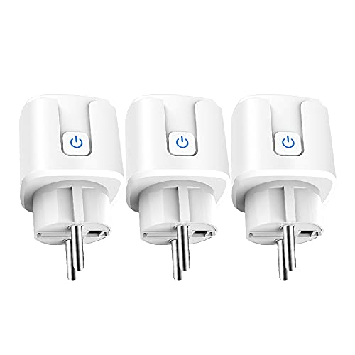 aixi-SHS ZigBee 3.0 Smart Plug Smart Life APP Control Medición de potencia KWh, mA, W. V, programa, temporizadores de circulación, compatible con Amazon Alexa
