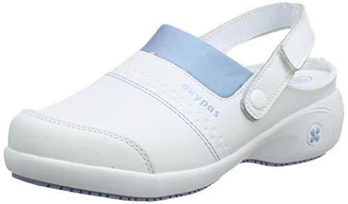 Oxypas Sandy Zapatos de seguridad mujer, Blanco - White (Lbl), 40 EU