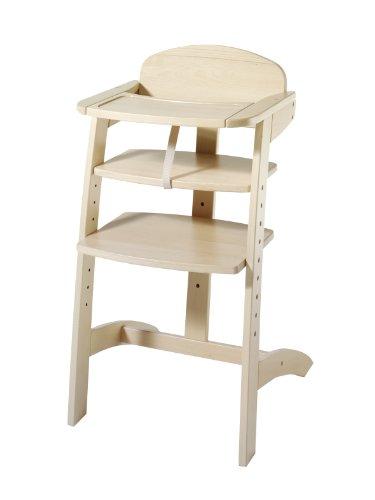 Schardt 010520001 Maxim III Chaise haute réglable en bois de hêtre massif laqué naturel