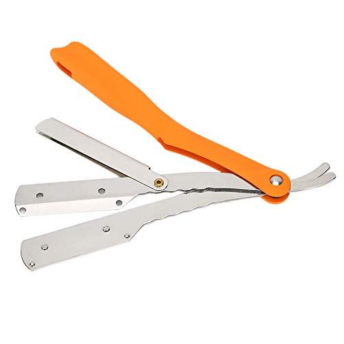 Navaja de barbero plegable, navaja profesional, navaja de seguridad para hombres y mujeres, maquinilla de afeitar para principiantes avanzados(S54-5 74)