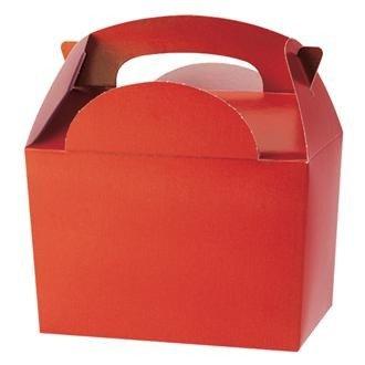 Lot de 20 boîtes à surprises pour repas d'enfants - Couleur unie - Taille : 152 x 100 x 102 mm - Rouge