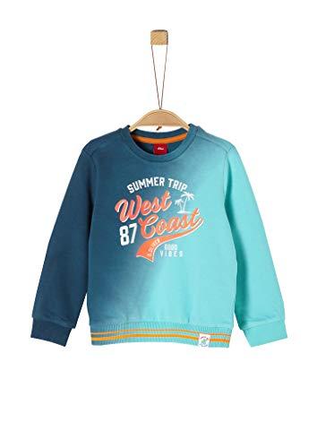 s.Oliver Jungen Sweatshirt Langarm Pullover, 6224 türkisblau, 128/134/ REG