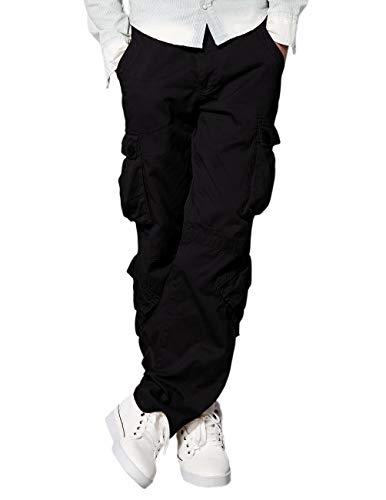 Match Men's Wild Cargo Pants(Black,36)