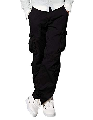 Match Men's Wild Cargo Pants(Black,42)