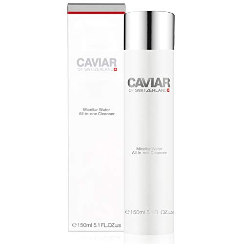 Micellar Water All-in-one Cleanser (150 ml) by Caviar of Switzerland, Makeup Remover, Deep Cleansing, Rehydrates and Protects Skin, Balances pH of Ski