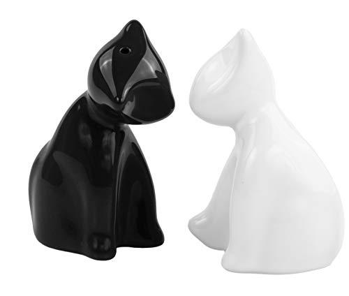 Salzstreuer Die verschmusten Katzen schwarz/weiss