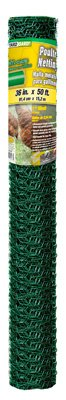 YARDGARD 308456B PVC Poultry Netting, 36-in. x 50-Ft. - Quantity 4