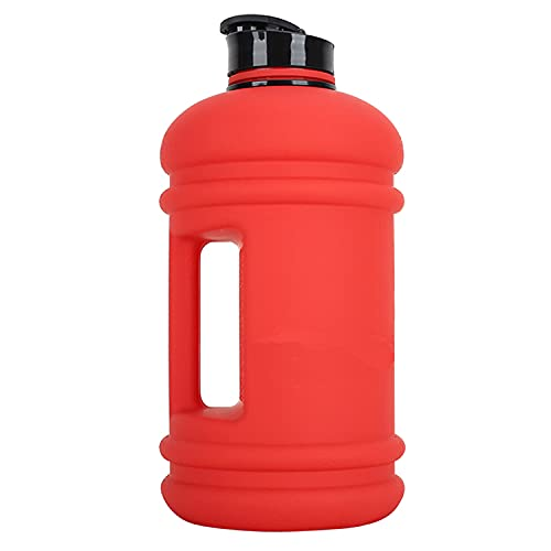 IRIS Half Gallon Gym Bottle 2.2 Litre Sports Water Jug - BPA Free, Quick Flow Cap, Ideal for Training, Hiking & Outdoor use - for Men & Women Matte Colour (Red)