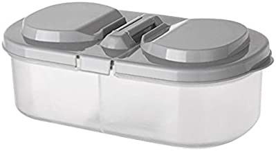 HUICHEN Plain Double-Box Buckle Sealed Tank Storage Tank Kitchen Refrigerator Storage Box Food Containers (Color : Gray)