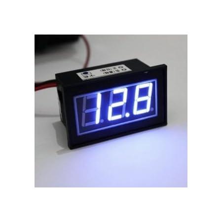 12//24V Auto Motorrad Voltanzeige Batterie 12-24V D6 LED Panel Digital Voltmeter